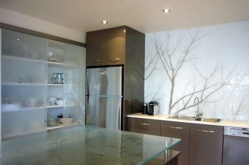 Tree Splash back painted